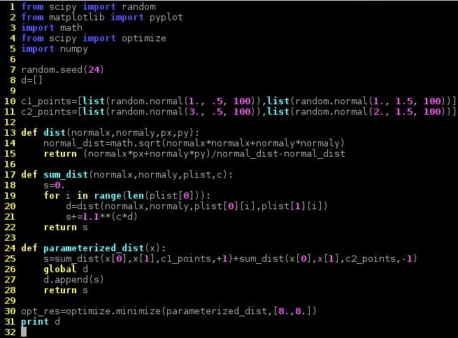 python code for SVM